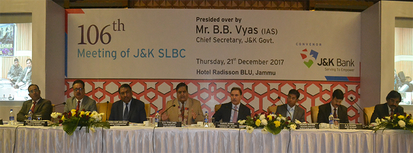 106th Meeting of J&K SLBC- 21-12-2017