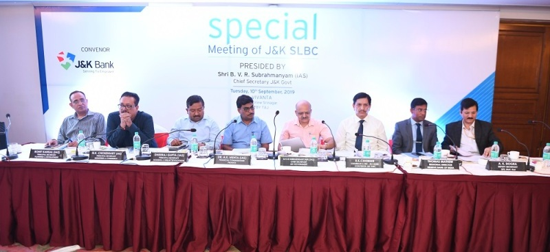 SPECIAL MEETING OF J&K SLBC - 10.09.2019