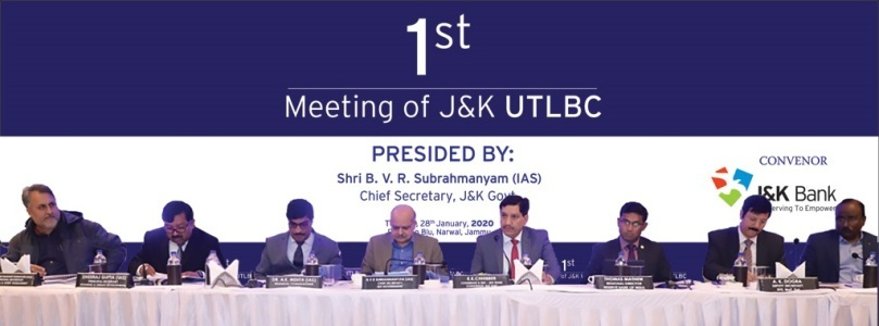 1ST MEETING OF UTLBC J&K HELD ON 28.01.2020