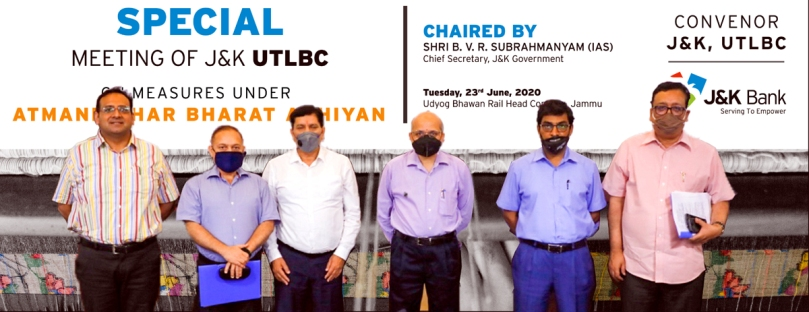 SPECIAL MEETING OF J&K UTLBC ON MEASURES UNDER ATMANIRBHAR BHARAT ABHIYAN  -  23.06.2020