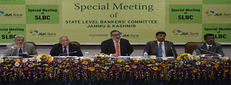Special J&K SLBC Meeting - 14-09-2015