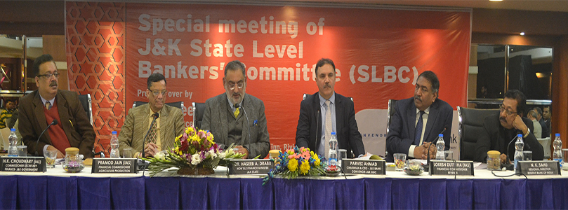 Special Meeting of J&K SLBC on Digital Banking- 21-12-2016